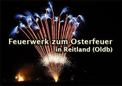 Osterfeuer in Reitland (Oldenburg)