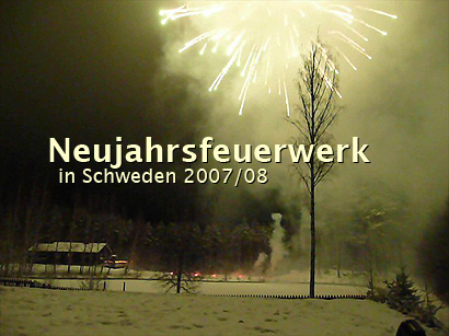 Silvester in Schweden – Neujahrsfeuerwerk in Söregard – Söregård