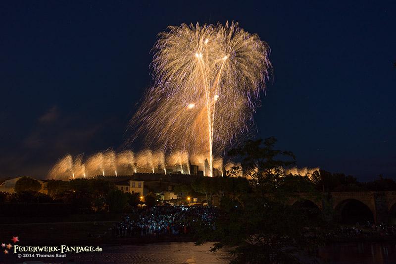 Feu d artifice Carcassonne du 14. Juillet 2014 Frankreich