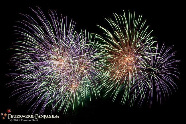 Privates Feuerwerk in Dresden