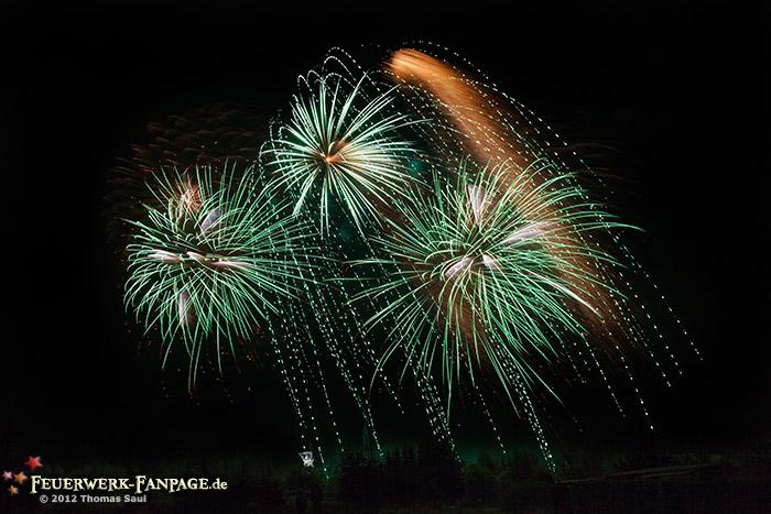 Feuerwerk zum Tag der Sachsen 2012 in Freiberg