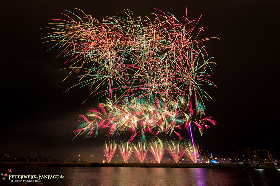 Pyromagic Feuerwerkfestival in Szczecin 2017(Stettin, Polen)